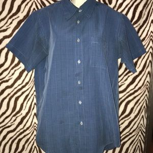 Vintage alfani size Small button down shirt blue
